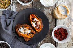Dessert Stuffed Sweet Potatoes #vegan #vegetarian #glutenfree #food #GoVegan #organic #healthy #RAW #recipe #health #whatveganseat