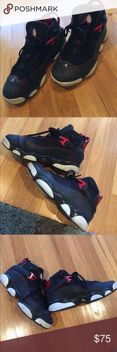 11a614b185003c Jordan 6 rings Used for awhile so there is wear on shoes. They re still  nice and don t have too much creases.
