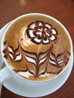 Latte art caffe: Beautiful cafe latte art designs