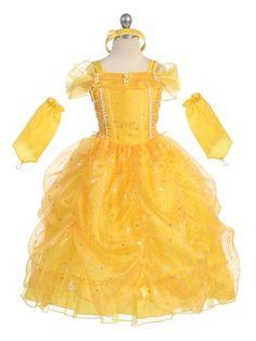 Girl Theme Dress - Yellow Princess Dress
