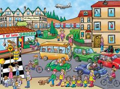 Present Progressive Picture Get pupils talking. Using transport vocabulary. Spanish Classroom, Teaching Spanish, Teaching English, Exam Pictures, Class Pictures, Spanish Lessons, English Lessons, Talk 4 Writing, Spanish Pictures