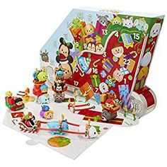 The 2017 Tsum Tsum Disney Countdown to Christmas Advent Calendar is available now! Enjoy 24 days of Tsum Tsum cuteness this Christmas. Tsum Tsum Advent Calendar, Toy Advent Calendar, Advent Calendars For Kids, Kids Calendar, Christmas Calendar, Advent Calenders, Christmas Countdown, Calendar 2017, Tsum Tsum Figures