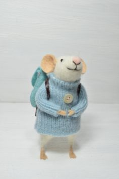 RESERVED FOR NANCY Little Traveler Mouse unique von feltingdreams