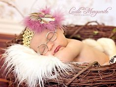 Infant Feather headband Different colors by SugarAndSpiceBowShop