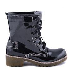 GHETE NEGRE DE LAC RAIN  129,0 LEI 89,0 LEI Lei, Combat Boots, Winter, Shoes, Fashion, Winter Time, Moda, Zapatos, Shoes Outlet