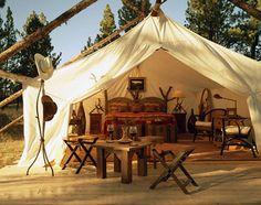 luxury camping.