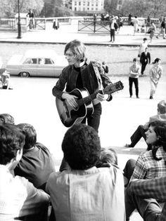 Michel Polnareff au Sacré Coeur, à Montmartre, Paris, 1966