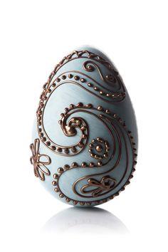 Indigo Paisley Easter egg