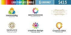 Logo Templates Bundle Templates **Logo Templates Bundle **Suitable for** : Company Logo, Business, Office, Studio, Organizat by Acongraphic Business Brochure, Business Card Logo, Creative Sketches, Creative Design, Corporate Branding, Pencil Illustration, Paint Markers, Modern Logo, Cool Logo