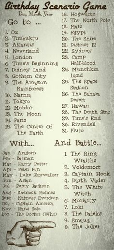 Birthday Senario Game: Go to Rivendell with Sherlock Holmes and Battle Smaug... Given there's a relation between those two I wouldn't be surprised if Sherlock joined Smaug's side against me...