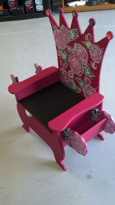 Hand painted potty chair with a  by Handpaintedtennessee on Etsy, $150.00