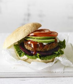 Lentil Burgers recipe: For a quick and easy week night meal combine these tasty lentil patties, high in protein and fiber, with your favourite in season vegetables and fresh bakery rolls, on MiNDFOOD.