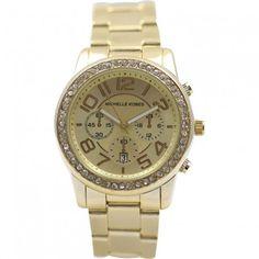 ceasuri aurii - ceas dama Michelle Kobes Gold Watch, Watches, Clocks, Clock