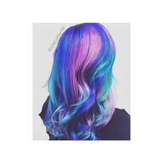 17 Galaxy Hair Ideas That Bend the Space-Time Continuum ❤ liked on Polyvore featuring hair