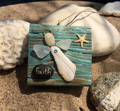 A personal favorite from my Etsy shop https://www.etsy.com/listing/529774320/faith-beachcomber-angel