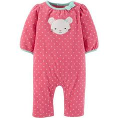 Pants w//Feet Cute FREE SHIPPING NWT Carters Outfit Mommy/'s Red  9 Months