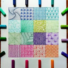 zentangle art patterns ~ zentangle art - zentangle art beginners - zentangle art patterns - zentangle art mandalas - zentangle art artwork - zentangle art ideas - zentangle art beginners step by step - zentangle art colorful Doodles Zentangles, Zentangle Drawings, Art Drawings, Art Sketches, Colorful Drawings, Easy Zentangle Patterns, Zen Doodle Patterns, Art Patterns, Doodle Borders