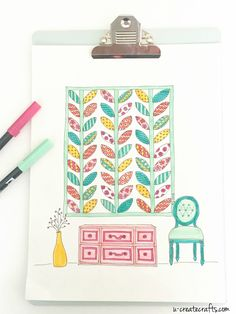 "Free Quilt Printable - ""Quilted Leaves"" by U Create"