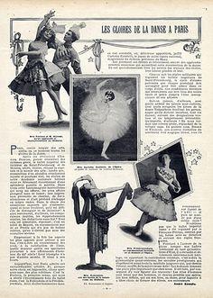 Vaslav Nijinsky & Anna Pavlova 1909 Ida Rubinstein...Dancers