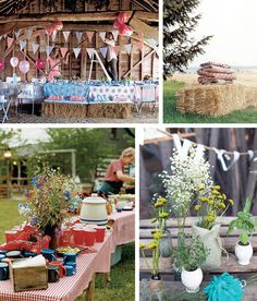 Rustic Party Decor by