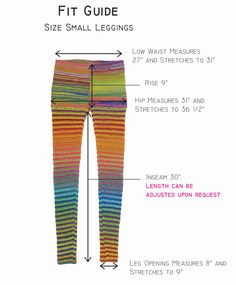 Size Small / 4-6 - Rainbow Bright Wool Crochet Pants -  Leggings - Footless Tights. $89.00, via Etsy.