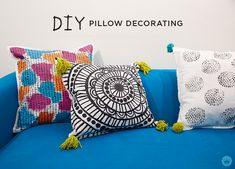 Hallmark designer Lindsay H.'s is sharing all the details on decorating your own pillows. (A blog from the Creative Studios at Hallmark.)
