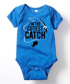 Another great find on #zulily! Royal Blue 'I'm The Cutest Catch' Bodysuit - Infant #zulilyfinds