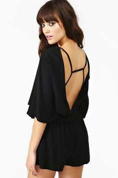 nasty gal. batwing romper. #fashion