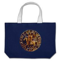 Medieval Seal of the Knights Templar Canvas Bags