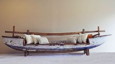 Full Boat Bench - day bed, outdoor lounge, timber, fishing boat, bali, balinese