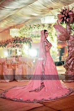 Irfan-Ahson-Pakistani-Wedding-Bridal-Outfit. Not a pink lover, but I love this.
