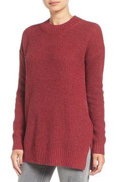 BP. Ribbed Mock Neck Pullover