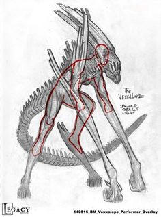 The Vexxalope. Creature design by Bruce D. Mitchell The Vexxalope. Creature design by Bruce D. Monster Concept Art, Monster Art, Creature Concept Art, Creature Design, Stilt Costume, Monster Costumes, Monster Design, Fantasy Creatures, Mythical Creatures Art