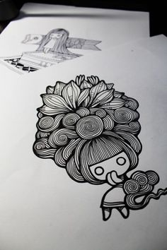 Zentangle or Doodle? Doodle Drawings, Cute Drawings, Doodle Art, Illustration Arte, Illustrations, Posca Art, Arte Country, Doodle Inspiration, Zentangle Patterns
