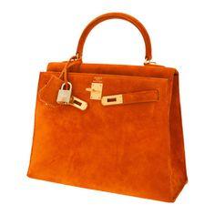 Hermes 25cm Orange H Veau Doblis Sellier Kelly Bag with BrushedGold | Lot #56010 | Heritage Auctions