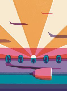 Chasing the Sun   David Doran Illustration