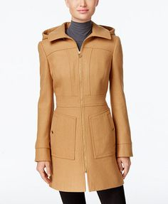 e79ce64969 MICHAEL Michael Kors Petite Hooded Wool-Blend Coat, Only at Macy's &  Reviews - Coats - Petites - Macy's