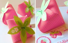 Strawberry Paper favor party box printables RED by paperglitter Party Box, Party Favors, Strawberry Box, Strawberry Shortcake Party, Strawberry Crafts, Origami, Note Fonts, Ideas Geniales, Paper Crafts For Kids