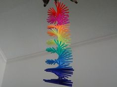 Make drinking straw spiral hanging is very easy to make but looks amazing. You can watch full video tutorial- Hope you like this drinking straw spiral hanging tutorial. Straw Projects, Craft Projects, Plastic Straw Crafts, Drinking Straw Crafts, Diy Paper, Paper Crafts, Make Wind Chimes, Straw Decorations, Crafts To Make