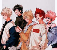 Yaoi, Fluff, Ships, AUs, and crossovers of BNHA pics! (None of the fanarts belong to me! They belong to their rightful owners!) Ranked: - Shota - Deku - Shoto - Katsuki Bakugou - All might - Ships [Jun - Bnha my hero [Jun - bokunoheroaca. Boku No Hero Academia, My Hero Academia Memes, Hero Academia Characters, My Hero Academia Manga, Kirishima Eijirou, Tsurezure Children, Bakugou And Uraraka, Comic Anime, Manga Anime