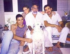 John Abraham with parents Abraham John and Firoza Irani and brother Alan Abraham - Provided by Masala.com