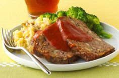 Kraft Family Classic Meatloaf- made with stove top & tomato soup. We LOVE this