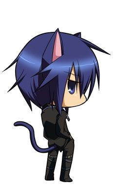 -Shugo Chara- Ikuto! He's a chibi in this picture, soo cute