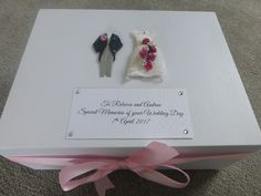 Large Wedding Keepsake Box/Memory Box Personalised  Bride and Groom