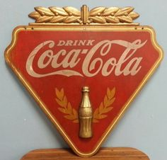 1930's Kay Display Wooden Coca Cola Advertising Sign : Lot 11