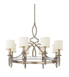 Capital Lighting Palazzo 8 Light Chandelier in Silver and Gold Leaf with Antique Mirrors 4088SG-535 #lightingnewyork #lny #lighting
