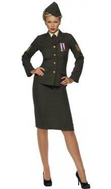 Offizierin Militär Kostüm 1