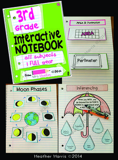 Interactive notebooks are a way to break free from worksheet overload. These pages are based on common core standards and cover reading, ELA, math, science and social studies for third grade. Interactive pages are fun and are an excellent way to cement your students' understanding.