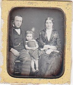 1/6th Plate Daguerreotype  circa 1850s    -Love the gent's trousers :-)