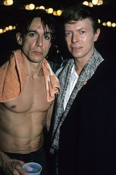 Iggy Pop and David Bowie in NYC